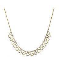 Mood Diamante Crystal Lattice Necklace