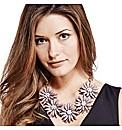 Mood Statement 3D Purple Flower Necklace