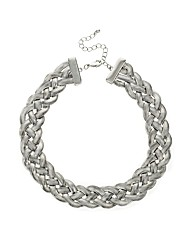 Mood Silver Plait Snake Chain Necklace
