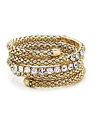 Mood Mesh Coil And Crystal Bangle