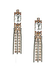 Mood Mesh And Crystal Drop Earring