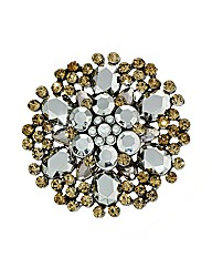 Mood Crystal Stone Flower Brooch