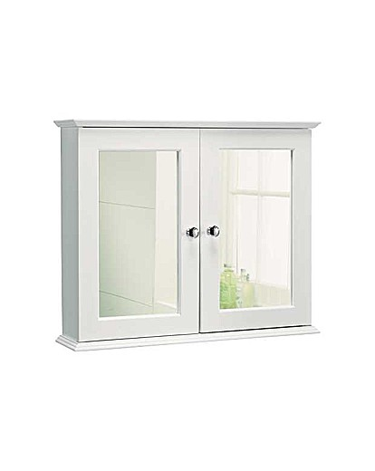 Double door mirrored bathroom cabinet ambrose wilson for Double door mirrored bathroom cabinet