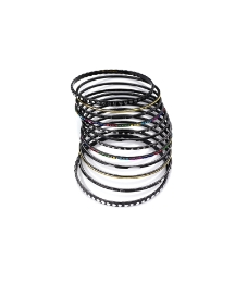 12pc Black Tone Bangle Set