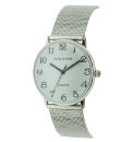 Gents Silver Coloured Bracelet Watch