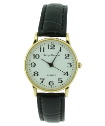 Gents White Dial Watch