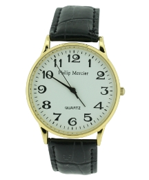 Gents Crocodile Effect Strap Watch