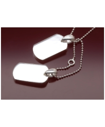 Sterling Silver Adj Dogtag Necklace