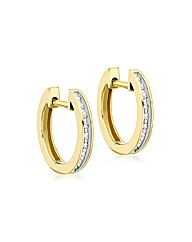 9ct Gold Inlaid Diamond Earrings