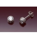 9ct White Gold Small cz Stud Earrings
