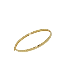 9ct Gold Diamond Cut Shimmer Bangle