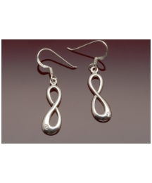 Sterling Silver Figure of Eight Earrings
