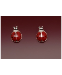 Sterling Silver &  Ladybird Earrings