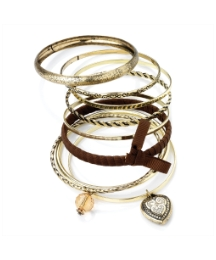 9 pc Gold Coloured Bangle Set
