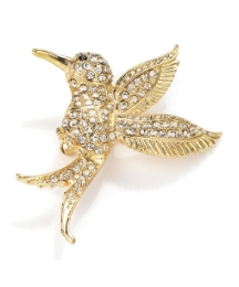 Gold Coloured Bird Brooch