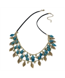 Turquoise and Gold Coloured Necklace