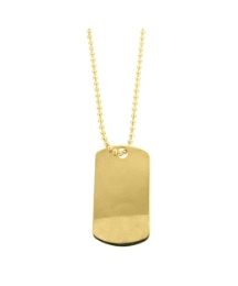 9ctGold Dogtag Necklace on Ball Chain