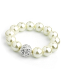 Faux Pearl Cream Coloured Bracelet