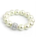 Faux Pearl Cream Coloured Bracelet