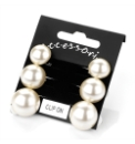 3 pairs of Faux Pearl Clip On Earrings