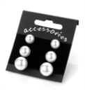 4 Pairs Faux Pearl Earrings