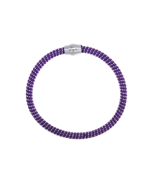 Sterling Silver & Purple Cord Bracelet
