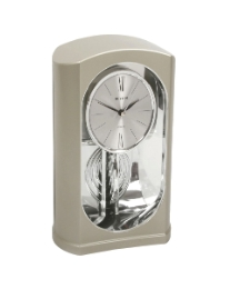 Contemporary Clock Chrome with Pendulum