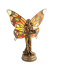 Juliana Tiffany Lamp Fairy with Flowers