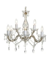 Marie Antoinette Gold 9 Arm Chandelier