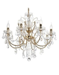Maple Gold 8 Light Chandelier