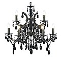 Clarence 9 Light Black Chandelier