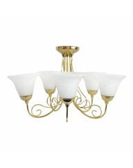 Rina Brass 5 Light Ceiling Light