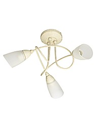 Frances Brushed Gold Ceiling Light