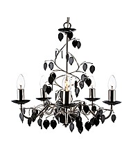 Felizia 5 Light Black Chandelier