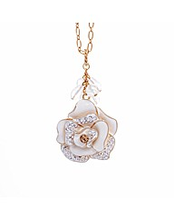 Gold Plated Chunky Flower Pendant