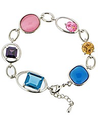 Ladies Multi Colour Crystal Bracelet