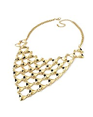 Accessories Gold Coloured Mesh Necklace