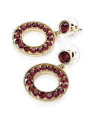 Accessories Round Drop Earrings
