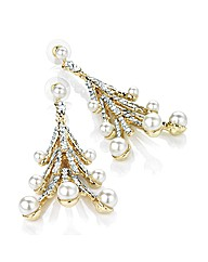 Accessories Faux Pearl Drop Earrings