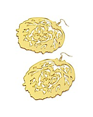 Accessories Large Gold Coloured Earrings
