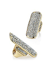 Accessories Gold Coloured Oblong Ring