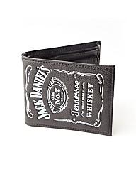 Jack Daniels Bifold White Logo Wallet