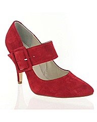 Marta Jonsson red suede court