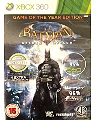Batman Arkham Asylum Game of The Year Ed