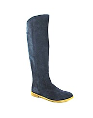 Marta Jonsson navy suede knee boot