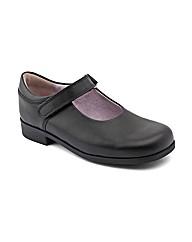 Start-rite Samba Black Leather Fit E