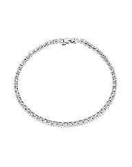 9ct White Gold 1 Carat Tennis Bracelet