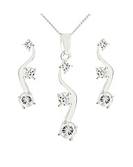 Silver Cubic Zirconia Jewellery Set