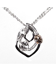 Oval Square and Marquise Crystal Pendant