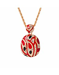 Red Pendant with Crystal Detail